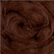 Deep Chestnut Baby Alpaca Combed Top *As Low As $3.20/oz in Quantity*