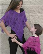 AC69 Easy Lace Poncho - Sizes for women and girls **SALE**
