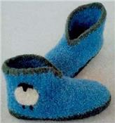 AC-67x Crocheted Felt Boot Slippers